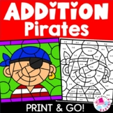 Summer Color by Number Addition Facts Pirate Themed