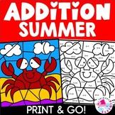 Summer Color by Number Addition Set