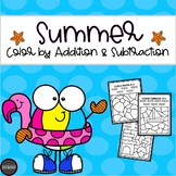 Summer Color by Number: Addition & Subtraction