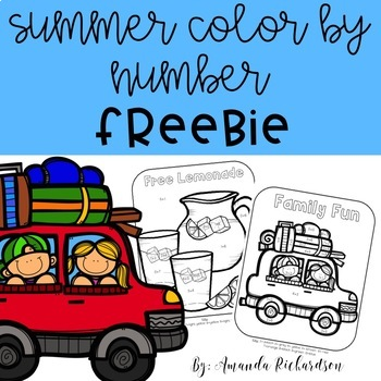 Summer Color by Number FREEBIE