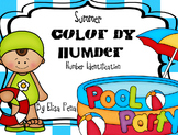 Summer Color by Number - Number Identification