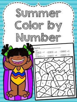 Summer Color by Number Sense