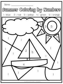 summer coloring pages  colornumberteacher's brain  cindy martin