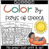 Summer Color by Parts of Speech