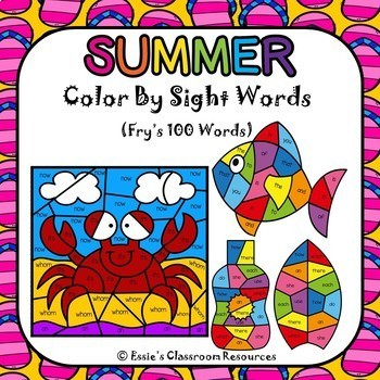Summer Color by Sight Words