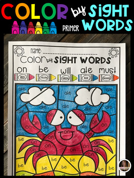 Summer Color by Sight Words (Primer)