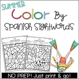 Summer Color by Spanish Sight Words