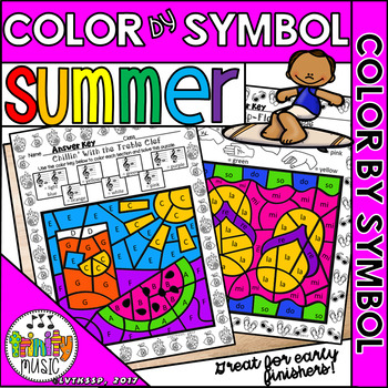 Summer Color by Symbol (for Music)