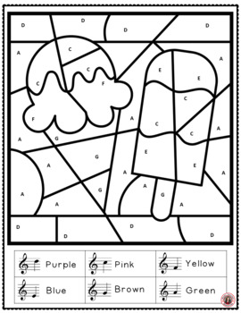 Free Music Download: Summer Color by Treble Music Notes