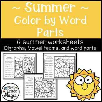 Summer Color by Word Parts