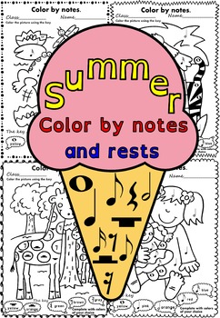 Summer: Color by notes and rests