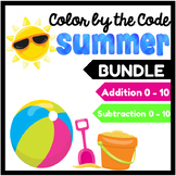Summer Color by the Code Bundle: Addition & Subtraction in