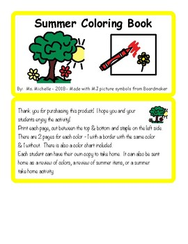 Summer Coloring Activity