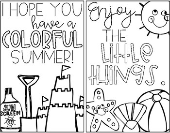 Summer Coloring Book {Freebie}