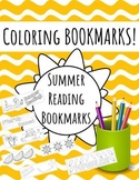 Summer Coloring Bookmarks for Lessons or Makerspaces