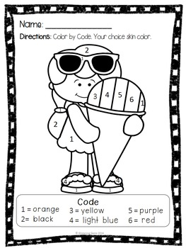 Free Summer Coloring Pages Worksheets Teaching Resources Tpt