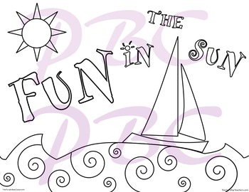 Summer Coloring Page Fun in the Sun