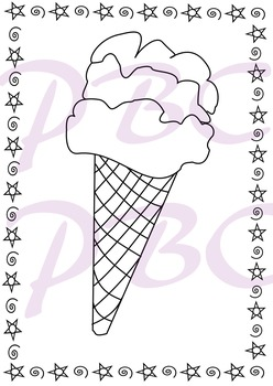Summer Coloring Page Ice Cream