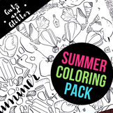 Summer Coloring Page Pack