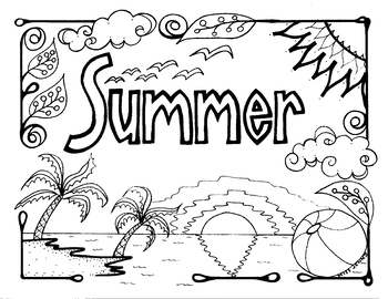 Summer Camp, : Bunch of Kids and a Dog on Summer Camp Coloring ... | 270x350
