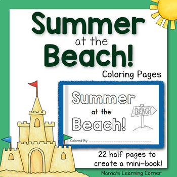 Summer Coloring Pages - At the Beach!