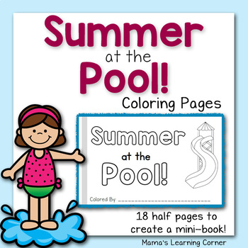 Summer Coloring Pages - At the Pool!