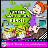 Summer Math Activities (Summer Color By Number Pages BUNDLE)