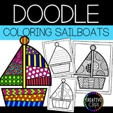 Summer Coloring Pages: Doodle Shape Sailboat {Made by Creative Clips}