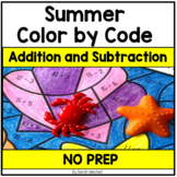 Summer Coloring Pages Addition and Subtraction Color by Number