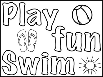 Summer Coloring Pages FREEBIE