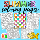 Summer Coloring Pages - PDF & PNG for iPad digital Colorin