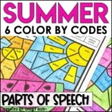 Summer Coloring Pages Parts of Speech Color by Number End of the Year
