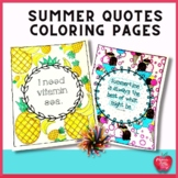 Summer Coloring Pages with Quotes great end of the year ac