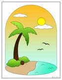 Summer Vacation Coloring Sheet