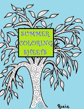 Coloring Sheets for Fun