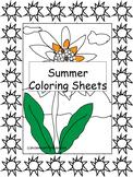 Summer Coloring Sheets