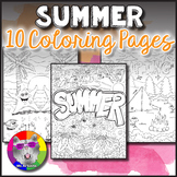 Summer Coloring Pages, Zen Doodles