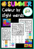 Summer Colour Coded Sight Words