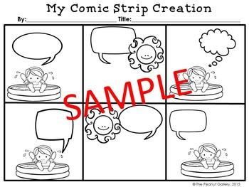 Summer Comic Creations (Comic Strip Template Set)