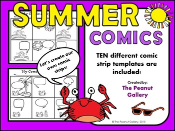 Summer Comic Creations (Comic Strip Template Set)