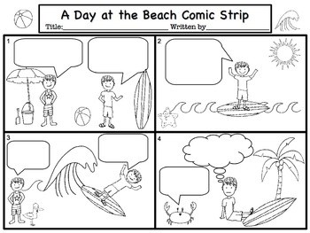 Summer Comic Strip Writing