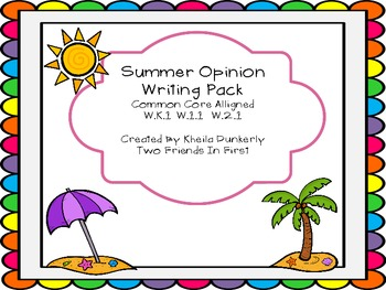 Summer Common Core Opinion Writing
