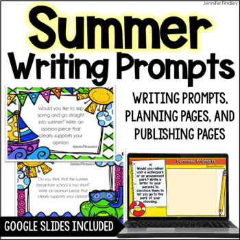 Summer Common Core Writing {Opinion, Informative, and Narr