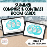 Summer Compare and Contrast Boom Cards | Draggable and Fil