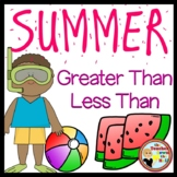 Summer Comparing Numbers - 1-12 (Great Smartboard Activity!)