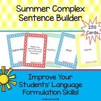 Summer Complex Sentence Builder #may2020halfoffspeech
