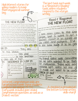 Summer Comprehension Notebook
