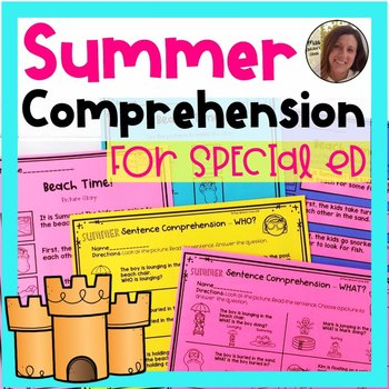 Summer Comprehension for Special Ed | Special Education and Autism Resource