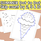Summer Connect the Dots - Dot to Dot Skip Counting by 2, 5