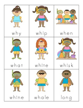 Summer Consonant Digraph Cards